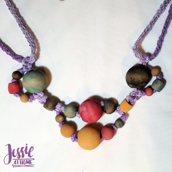 DIY Wooden Bead Necklace craft tutorial by Jessie At Home - 6
