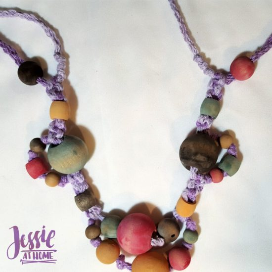 DIY Wooden Bead Necklace craft tutorial by Jessie At Home - 7