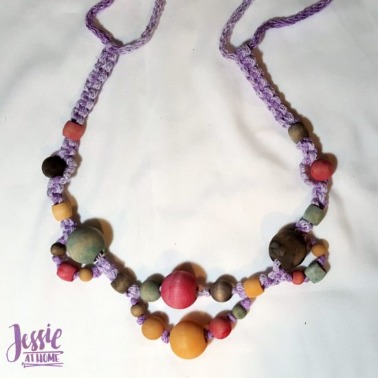 DIY Wooden Bead Necklace craft tutorial by Jessie At Home - 8