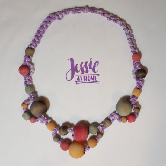 DIY Wooden Bead Necklace craft tutorial by Jessie At Home - Done