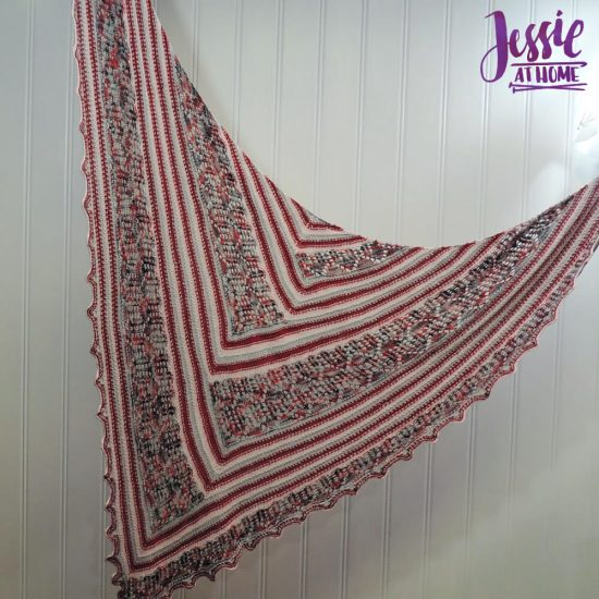 Fall Houses lace shawl knit pattern by Jessie At Home - 5