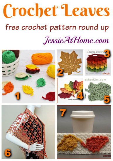 Free Crochet Leaf Pattern Round Up from Jessie At Home