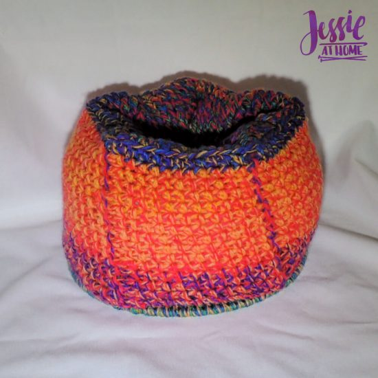Halloween Basket Crochet Pattern by Jessie At Home - inside out