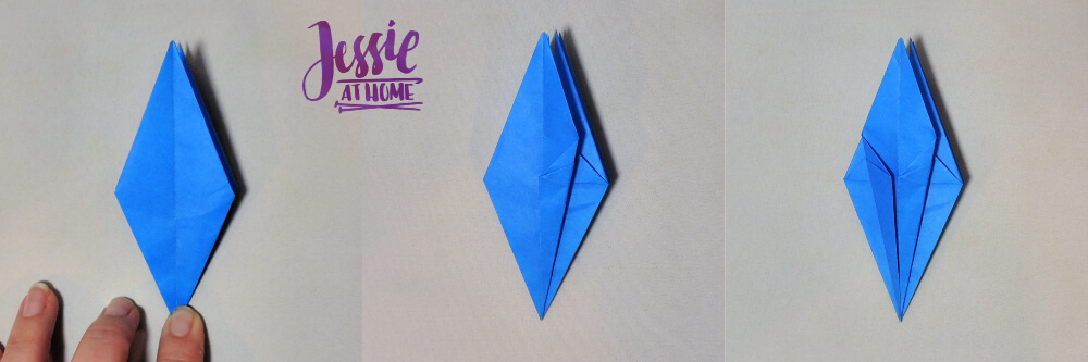 Origami Iris - Japanese Paper Folding Tutorial by Jessie At Home - 10