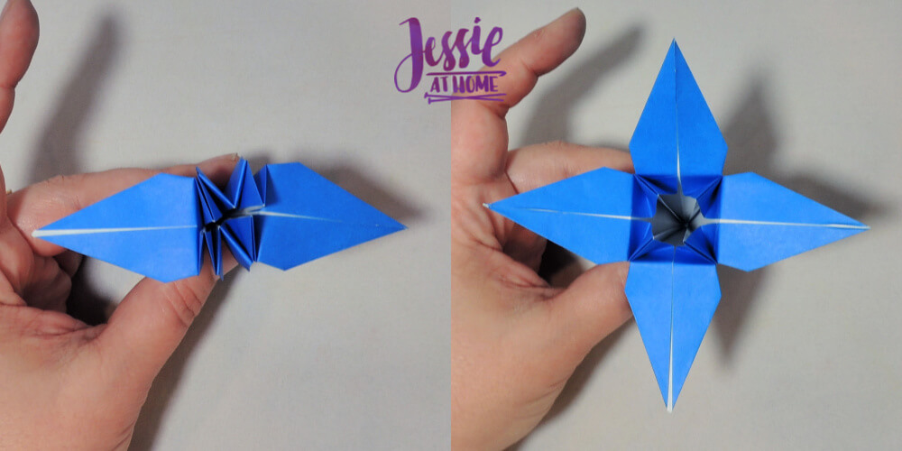 Origami Iris - Japanese Paper Folding Tutorial by Jessie At Home - 13