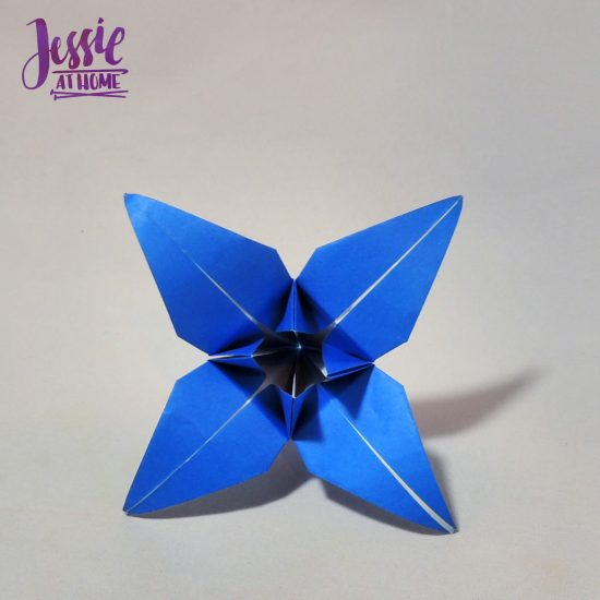 Origami Iris - Japanese Paper Folding Tutorial by Jessie At Home - 15
