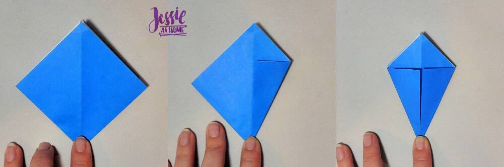 Origami Iris - Japanese Paper Folding Tutorial by Jessie At Home - 3