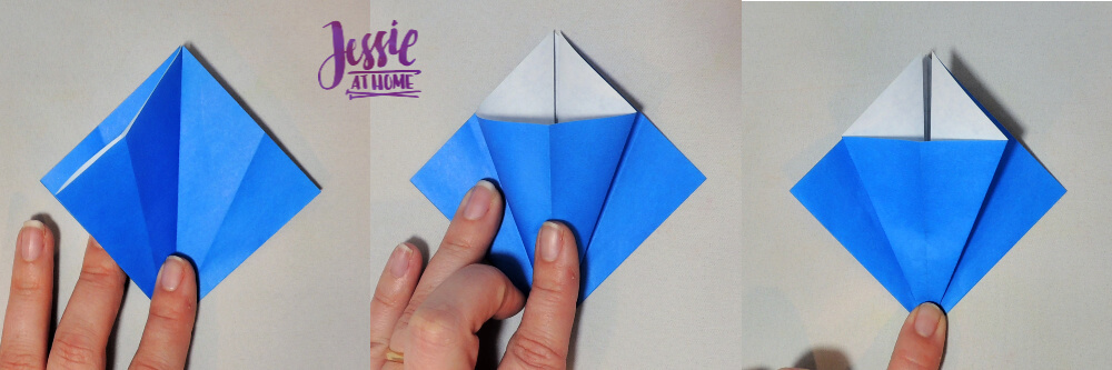 Origami Iris - Japanese Paper Folding Tutorial by Jessie At Home - 4