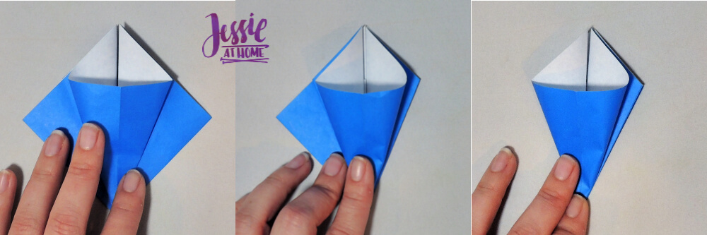 Origami Iris - Japanese Paper Folding Tutorial by Jessie At Home - 5