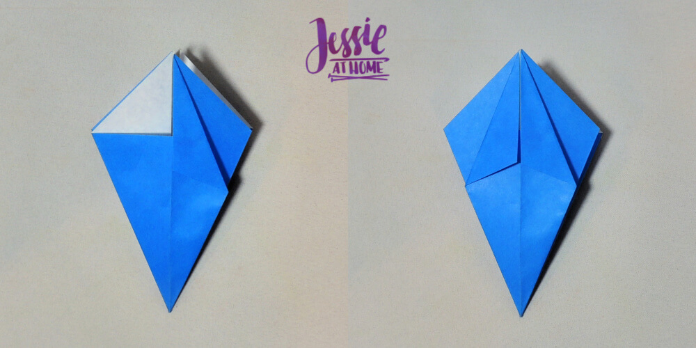Origami Iris - Japanese Paper Folding Tutorial by Jessie At Home - 6