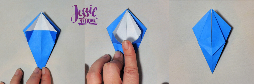 Origami Iris - Japanese Paper Folding Tutorial by Jessie At Home - 7