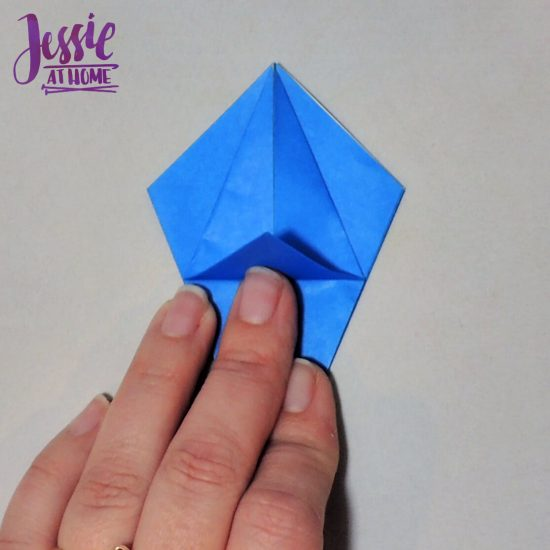 Origami Iris - Japanese Paper Folding Tutorial by Jessie At Home - 8