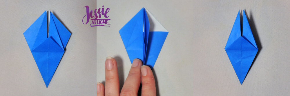 Origami Iris - Japanese Paper Folding Tutorial by Jessie At Home - 9