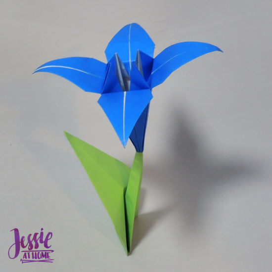 Origami Iris - Japanese Paper Folding Tutorial by Jessie At Home - on stem
