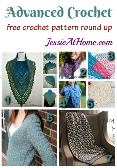 Advanced Crochet - free crochet pattern round up from Jessie At Home