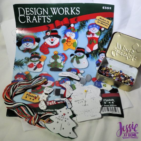 DIY Felt Ornament Kits review from Jessie At Home - Parts
