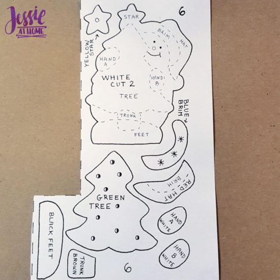 DIY Felt Ornament Kits review from Jessie At Home = Pattern