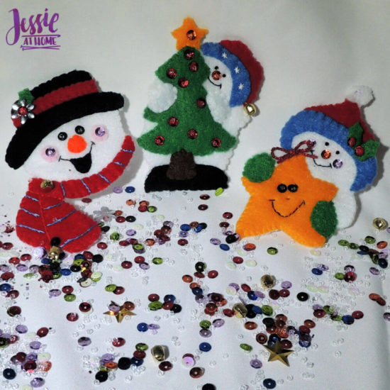 DIY Felt Ornament Kits review from Jessie At Home - Three Done