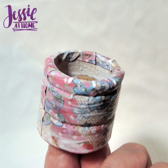 DIY Napkin Rings and Napkin Tutorial by Jessie At Home - fold down