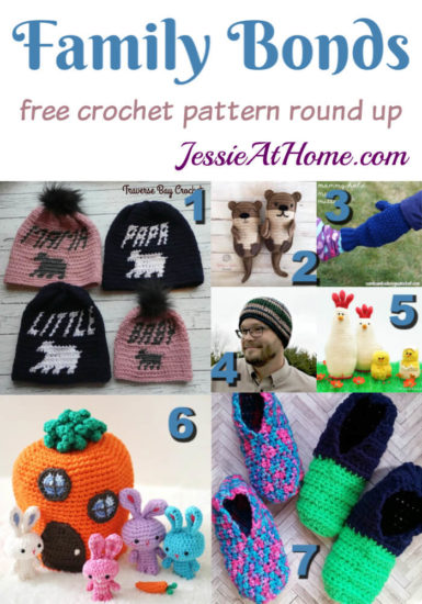 Family Bonds free crochet pattern round up from Jessie At Home