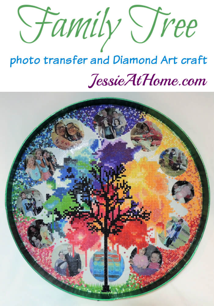 Family Tree photo transfer and Diamond Art craft by Jessie At Home