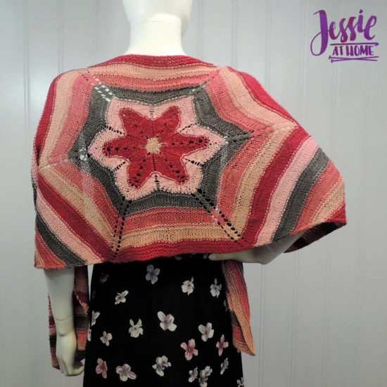 Hexed Flower - knit hexagon wrap pattern by Jessie At Home - 5
