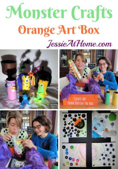 Monster Crafts October Orange Art Box - Jessie At Home