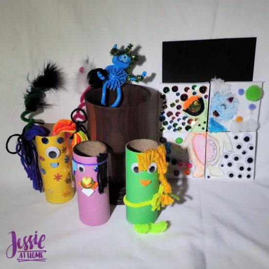 Monster Crafts October Orange Art Box - Jessie At Home - all done