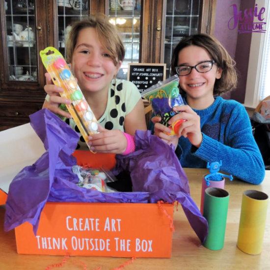 Monster Crafts October Orange Art Box - Jessie At Home - glow paint