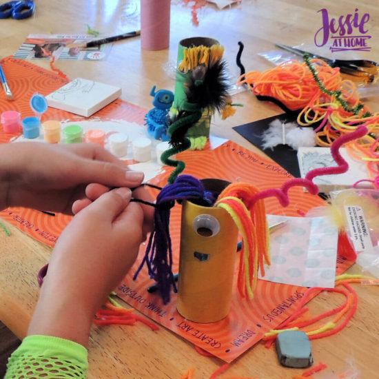Monster Crafts October Orange Art Box - Jessie At Home - monster hair