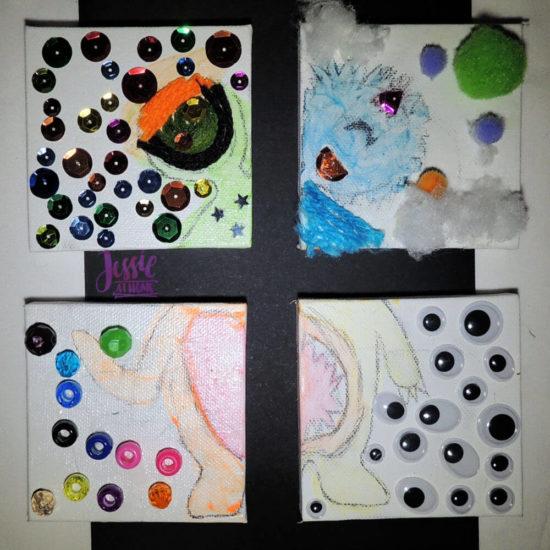 Monster Crafts October Orange Art Box - Jessie At Home - monster quarters