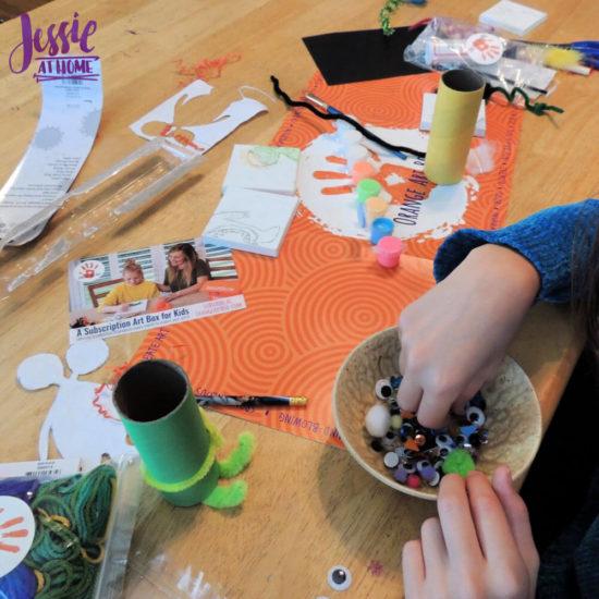 Monster Crafts October Orange Art Box - Jessie At Home - sparkles
