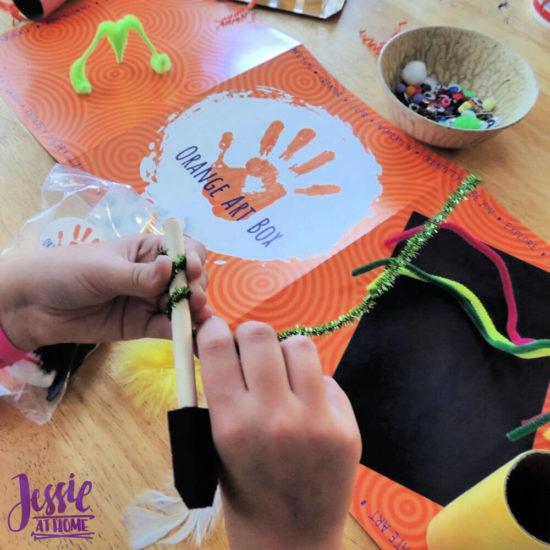 Monster Crafts October Orange Art Box - Jessie At Home - twirling