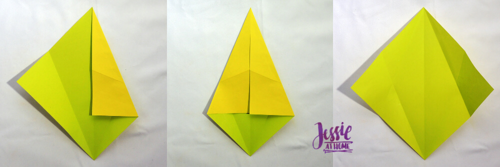 Origami Fish Base Tutorial by Jessie At Home - Step 2