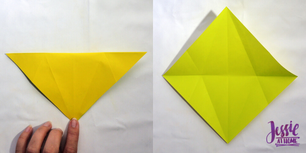 Origami Fish Base Tutorial by Jessie At Home - Step 3
