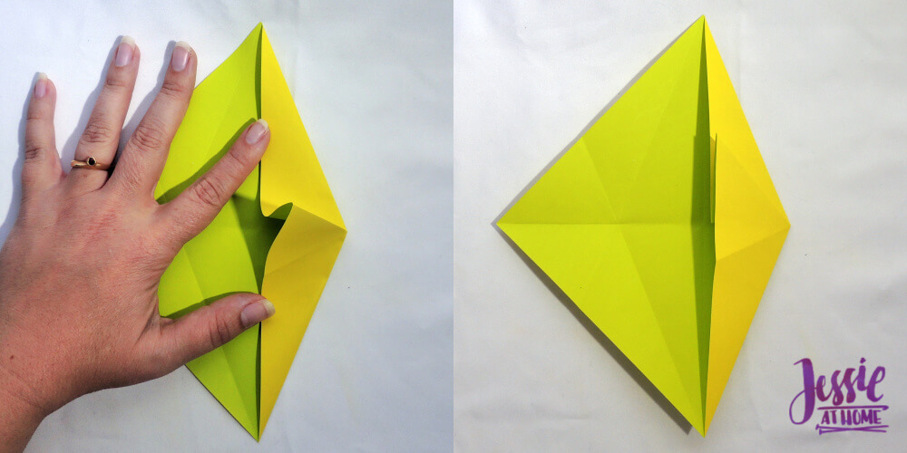 Origami Fish Base Tutorial by Jessie At Home - Step 4