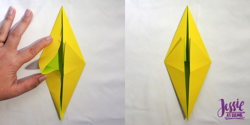 Origami Fish Base Tutorial by Jessie At Home - Step 5