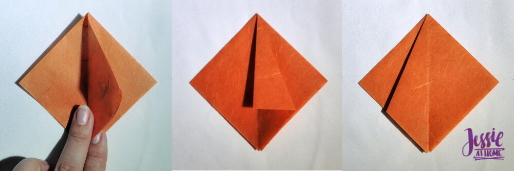 Origami Pumpkin Pattern Tutorial by Jessie At Home - Step 2