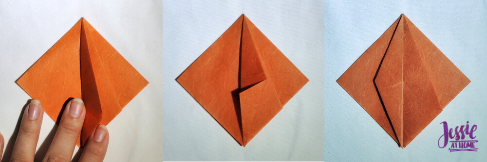 Origami Pumpkin Pattern Tutorial by Jessie At Home - Step 4