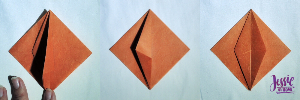 Origami Pumpkin Pattern Tutorial by Jessie At Home - Step 5