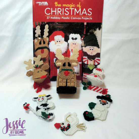 Plastic Canvas Christmas Decor and Ornaments book review by Jessie At Home - so fun