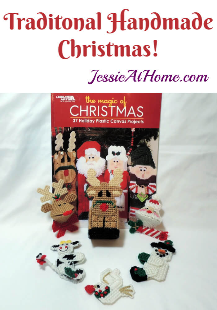 Plastic Canvas Christmas Decor and Ornaments book review by Jessie At Home