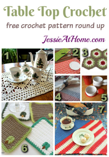 Table Top Crochet free crochet pattern round up from Jessie At Home