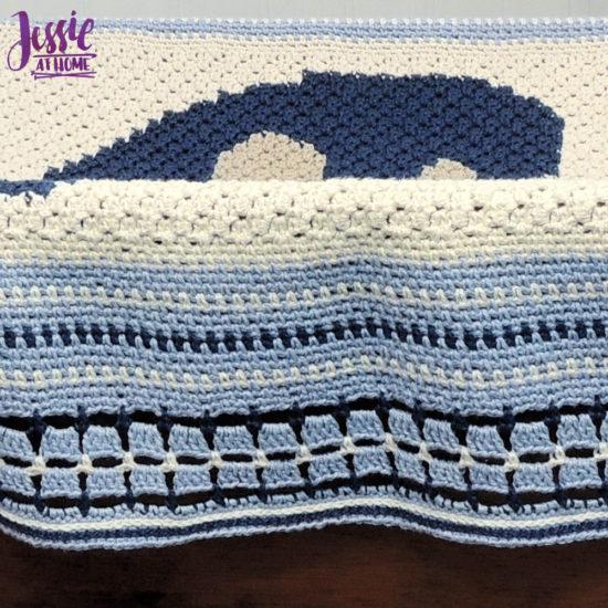 Vintage Style Crochet Afghan - Dancing Mushroom Blanket Pattern by Jessie At Home - 3