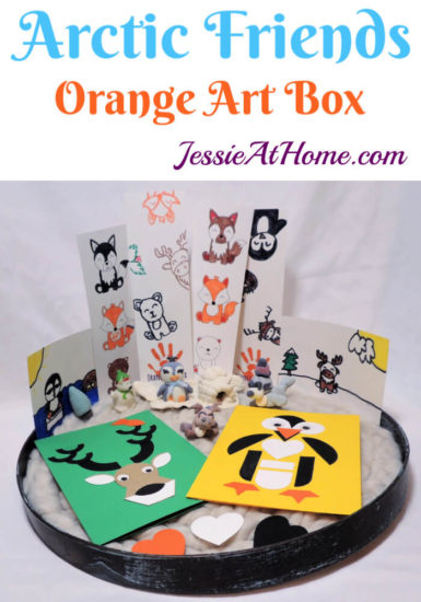 Arctitc Friends Orange Art Box Projects from Jessie At Home