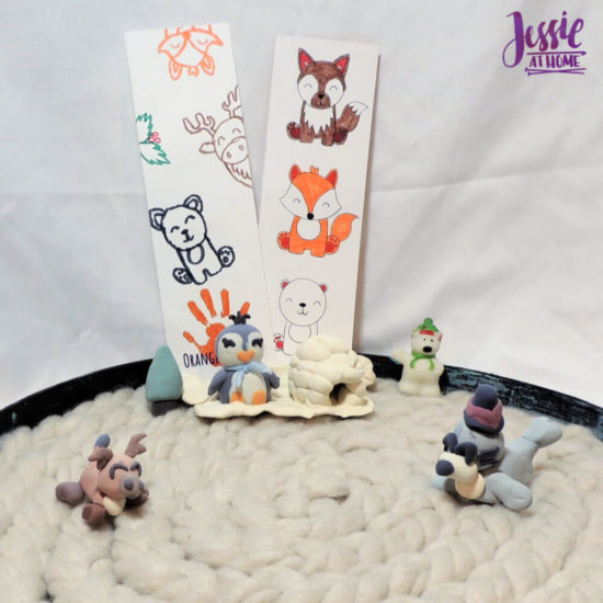Arctitc Friends Orange Art Box Projects from Jessie At Home- Arctic Scene