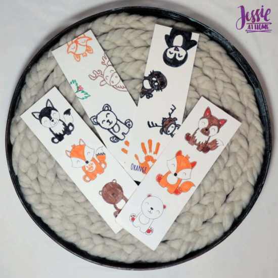 Arctitc Friends Orange Art Box Projects from Jessie At Home - Bookmarks