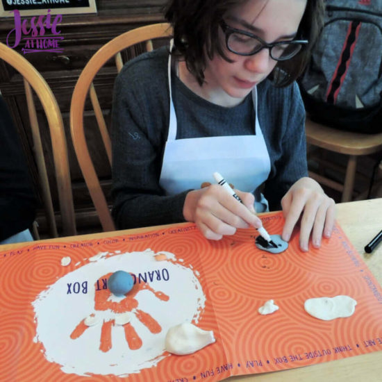 Arctitc Friends Orange Art Box Projects from Jessie At Home - Coloring Clay