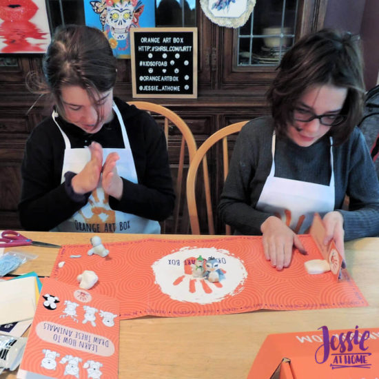Arctitc Friends Orange Art Box Projects from Jessie At Home - Creating