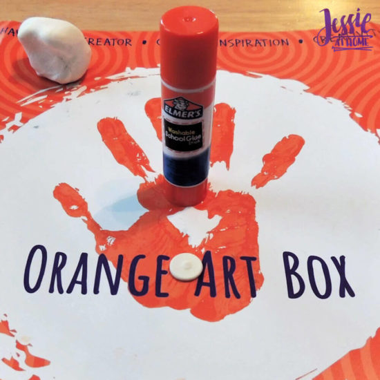 Arctitc Friends Orange Art Box Projects from Jessie At Home - Round Disk Of Clay